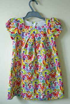 Baby Doll Pleated Dress by JayneGTuttifrutti on Etsy, £20.00