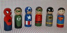 Superhero Peg People