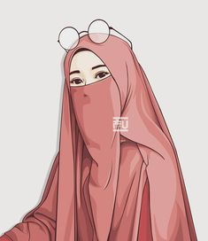 Hijab Drawing : - Hijab Combine Hijab hijab with niqab Mode Hijab, Hijab Niqab, Vector Character, Tmblr Girl, Portrait Vector, Muslim Pictures, Film Anime, Hijab Drawing, Islamic Cartoon