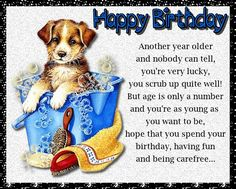 A cute and quirky birthday card for someone maturing in age! Free online You Scrub Up Quite Well ecards on Birthday Birthday Name, Birthday Wishes Funny, Birthday Songs, It's Your Birthday, Birthday Cards, Happy Panda, Another Year Older, Colorful Birthday, Very Happy Birthday
