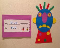Monster Craft and Writing Activity (craft, writing frames, & writing papers) to go with the book Go Away Big Green Monster!-$