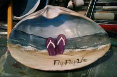 Flip flop on a coinjock shell