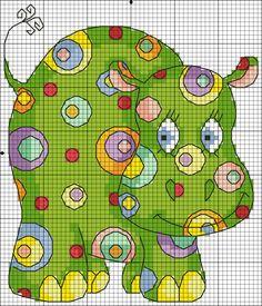 МираДом: Зверики в горошек. Зеленая Бегемоточка.