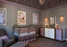 Perfect color scheme for a future mama that is not a pink fan. And I LOVE the picture over the crib.