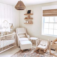 This neutral nursery showcases natural wood tones and plenty of rattan details. image by nursery decor Here's What's Trending in the Nursery this Week - Project Nursery