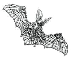 Bat #drawing #art #illustration #animal #ink #bat