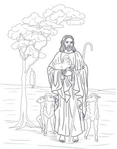 The Good Shepherd Catholic Coloring Page