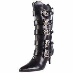 Demonia Women's M - Women Boots (Demonia) - Kinkinky - Fetisch, BDSM, Toys und mehr Goth Boots, Witchy Outfit, Gothic Shoes, Only Shoes, Lace Up Ankle Boots, Cute Shoes, Rubber Rain Boots, Calves, Heels