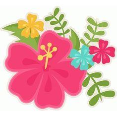 Silhouette Design Store - View Design #88607: hibiscus