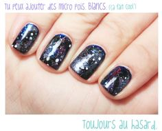 //How To// Les ongles intergalactiques. Waouw.