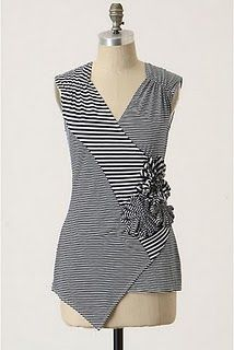 Anthropologie top. #stripes #patchwork #floral_accents
