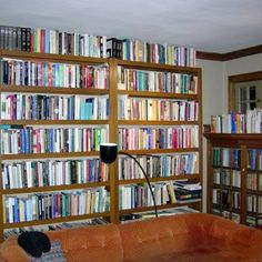 Have a lot of books? Install a lot of shelves!!