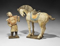 Buy online, view images and see past prices for Chinese Horse and Groom Figurine Group. Invaluable is the world's largest marketplace for art, antiques, and collectibles. Asian Sculptures, Ceramic Sculptures, The Han Dynasty, Black Pigment, Horse Sculpture, China Art, Equine Art, Pottery Bowls, Chinese Culture