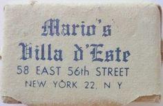 MARIO'S VILLA D'ESTE NEW YORK N.Y. by ussiwojima, via Flickr
