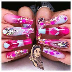 Creative Nail Designs, Colorful Nail Designs, Nail Art Designs, Nails Design, Flare Acrylic Nails, Cute Acrylic Nails, Opal Nails, Bling Nails, Bling Bling