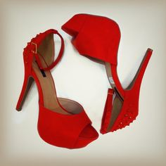 Red, ankle straps Design works No.662 |Red Heels|