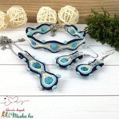 Csipkés kék achát sujtás nyaklánc fülbevaló karkötő szett esküvőre koszorúslány menyecske örömanya násznagy ünnepi (Arindaekszerek) - Meska.hu Crochet Earrings, Jewelry, Fashion, Jewellery Making, Moda, Jewelery, Jewlery, Fasion, Jewels