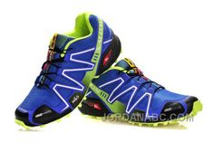 Salomon Speedcross 3 CS Mens Blue GreenYellow