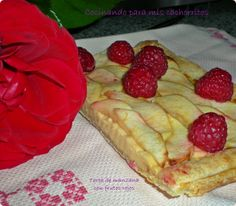 Tarta de manzana y frutos rojos. Desafío en la cocina. ~ Cocinando para mis cachorritos