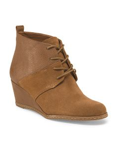 Albi Wedge Lace Up Bootie