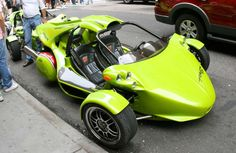 Green Campagna T-Rex in New York - Campagna Corporation - Wikipedia Suzuki Gsx, Concept Motorcycles, Motorcycles For Sale, Rolls Royce Models, Bmw Engines, Automobile, Reverse Trike, Trike Motorcycle, Gilles Villeneuve