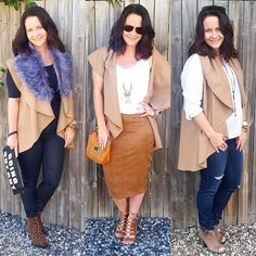 3 Looks Surafina drape vest