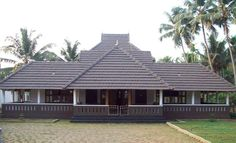 Kerala House Design Tiled Roof Kerala Homes In 2019 Village House Design, Kerala House Design, Village Houses, Kerala Traditional House, Traditional House Plans, Traditional Homes, Home Room Design, Home Design Plans, Kerala Architecture