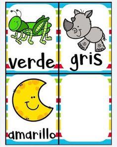 Juego bingo de los colores para aprender los colores Color Activities, Toddler Activities, Elementary Spanish, Games For Kids, Kid Games, Kids Learning, Back To School, Kindergarten, Teaching