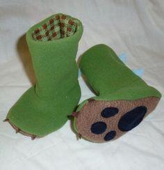 Fleece Dino Slippers