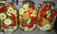 Ornamental Russian Style Pickled Vegetables Pickling is the process of preserving or expanding the lifespan of food by either. Vegetable Decoration, Boiled Dinner, Food Garnishes, Fermented Foods, Canning Recipes, Edible Art, Dose, Food Art, New Recipes