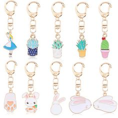 2019 New Arrival Personal Oil Dropping Unicorn Planet Shape Animal Pendant keychain