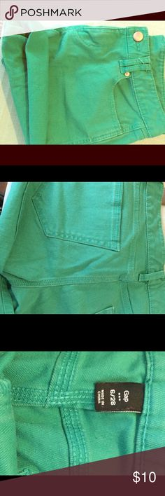 GREEN DENIM  JEAN GAP SHORTS In good condition! Gap Shorts Jean Shorts