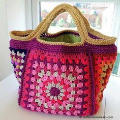 Chunky Retro Granny Stash Bag