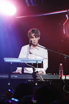 Wonpil - its almost unreal looking at any photos of them playing or singing.... cause they are so embodied by their music. Its kind of poignant in every one I see. Idk how to really put it into words. [credit on photo | twitter] #DAY6 #Wonpil
