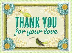 Thank you! #liefde