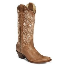 Corral Women's Bone Embroidery Cowgirl Boots ($170) found on Polyvore