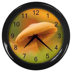 Wild Mushroom Plastic Black Frame Battery Operated Novelty Kitchen Wall Clock #CustomMade #Novelty