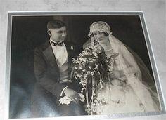 c. 1920's Art deco wedding couple