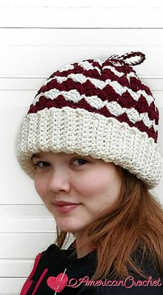 I like this design for many reasons. One it can be worn as a beanie, a cowl or a messy bun hat. It's a pretty and functional accessory to have on hand.