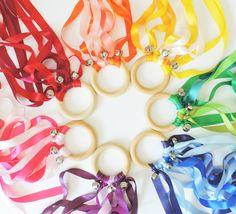 Rainbow Birthday Party Favors Waldorf Handkites by modernTOTshoppe