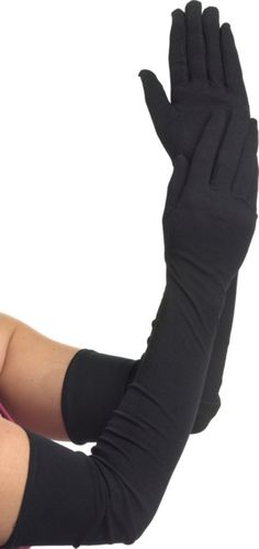 Extra Long Black Gloves - Party City $12.99