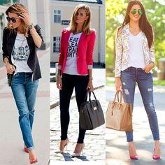 looks com calça jeans e camisa branca - Pesquisa Google