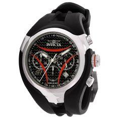 invicta watches | Invicta 1604 Men's S1 Rally Nitro Red Accents Black Dial Rubber Strap ...