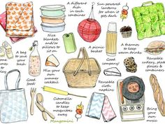 How To Have A Perfect Picnic (Also bring some plastic for under the blanket to keep it dry, shower curtain liner or inexpensive plastic tablecloth.)