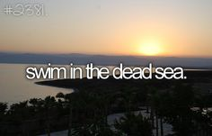 ...I want to swim in the Dead Sea.