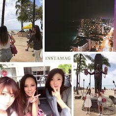 Instagram【yukachin0651】さんの写真をピンしています。 《#hawaii#アラモアナショッピングセンター#夜景》