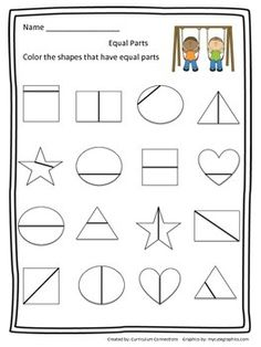 This is a worksheet that can be used to begin a first grade unit on fractions.