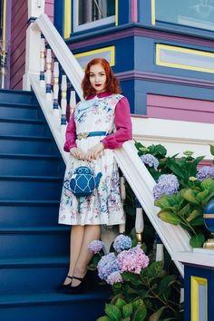 Modest 1950s Dress