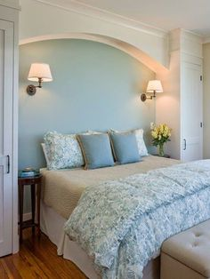Using The Area Around The Top Of The Bed For Cupboards And Shelves Allows You To Incorporate Storage Into A Bedroom Without Taking Up Valuable Floor Space