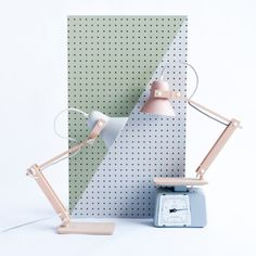 Pixoss Lamp. A desk lamp to die for. Designed and hand made by M.OSS Design in the Netherlands. Available at www.futureandfound.com